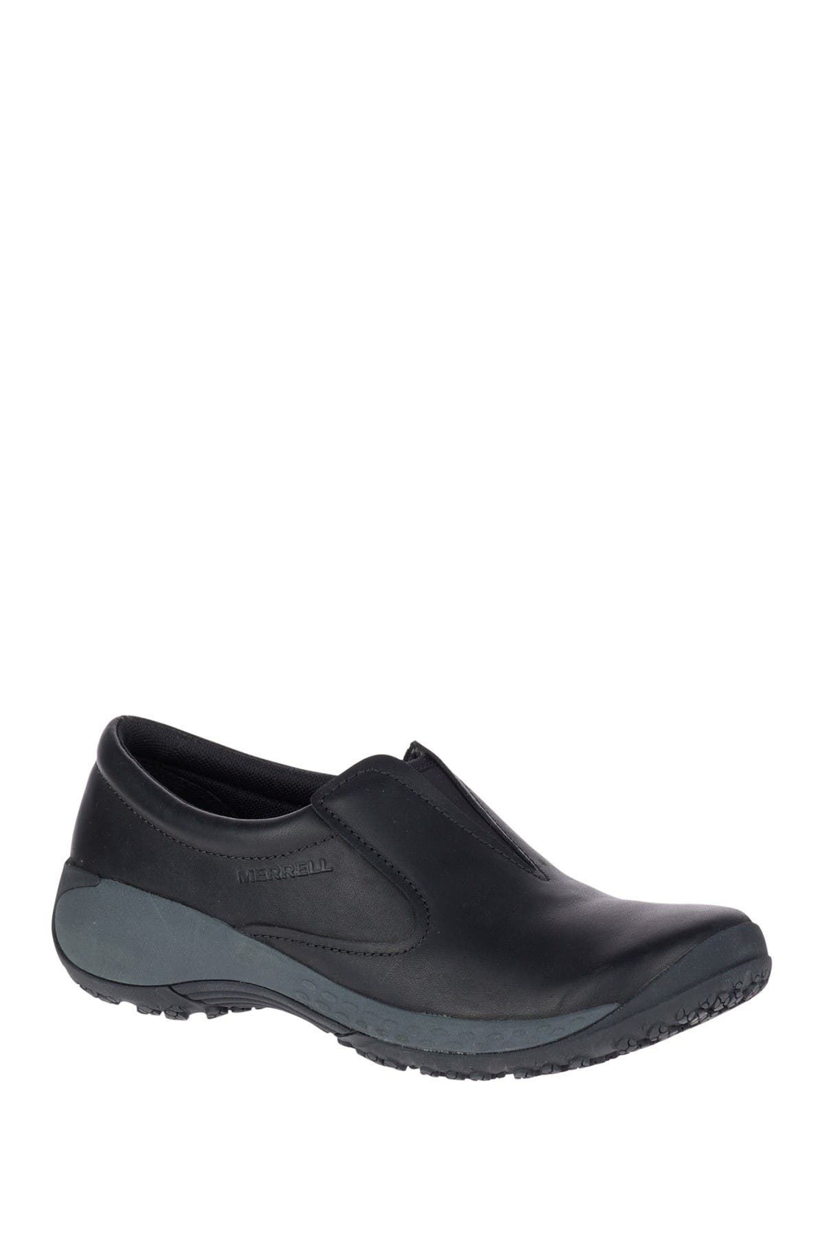 Image of Merrell Encore Moc Q2 Pro Slip-On Leather Work Shoe