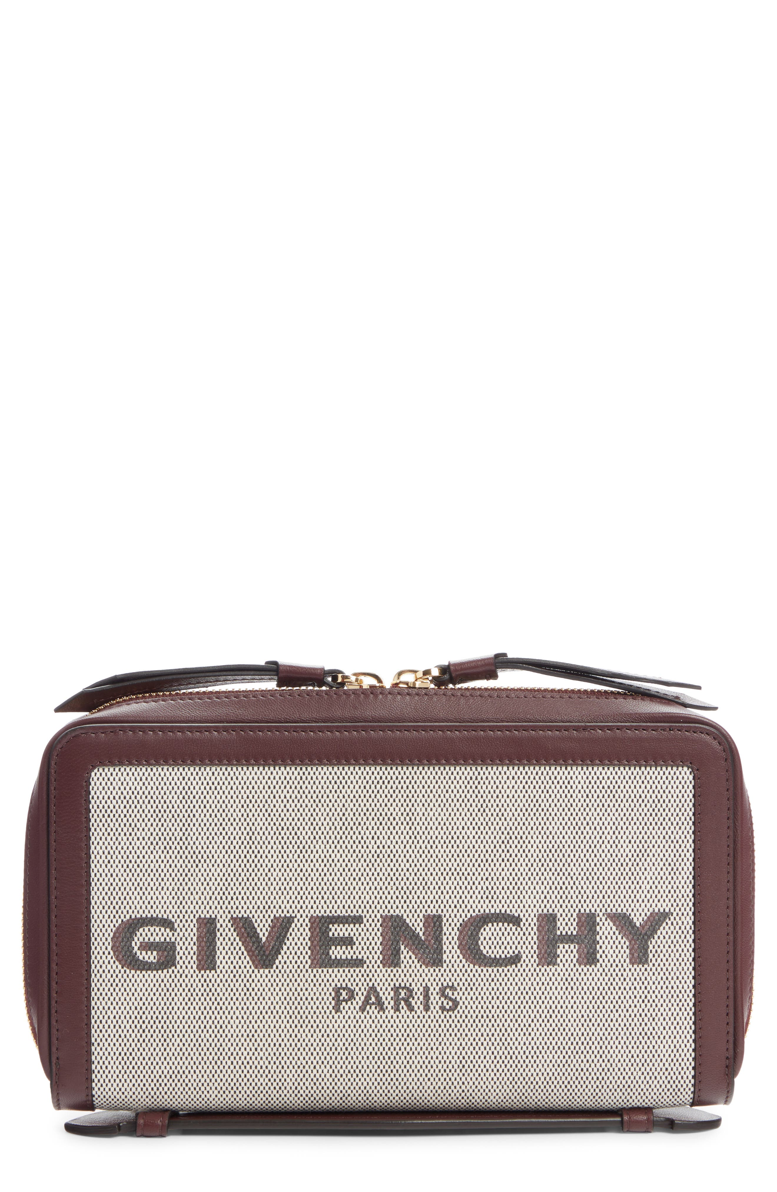 Givenchy Bond Canvas & Leather Travel Wallet   Nordstrom
