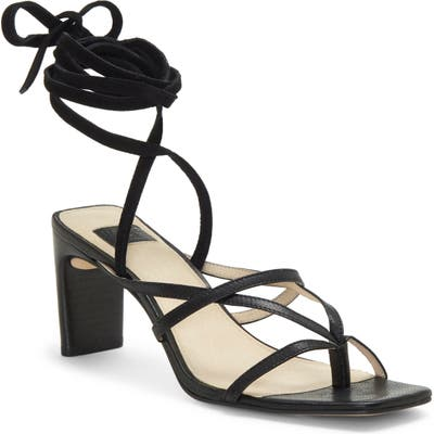 Louise Et Cie Lehana Wraparound Ankle Strap Sandal, Black