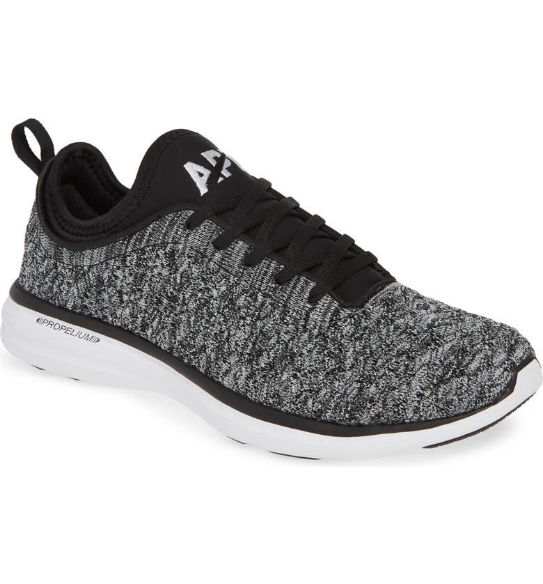 APL TechLoom Phantom Running Shoe, Main, color, BLACK/ WHITE/ MELANGE
