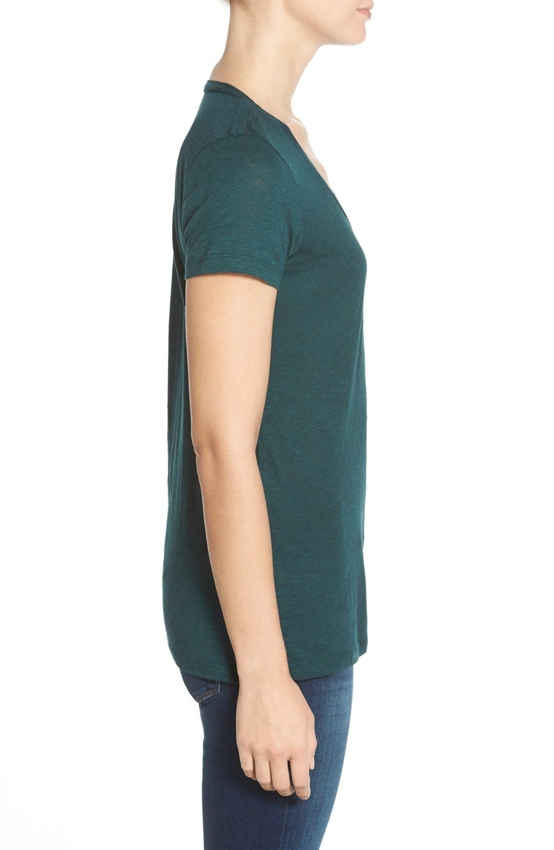 ,                             Relaxed Slub Knit U-Neck Tee,                             Alternate thumbnail 193, color,                             304