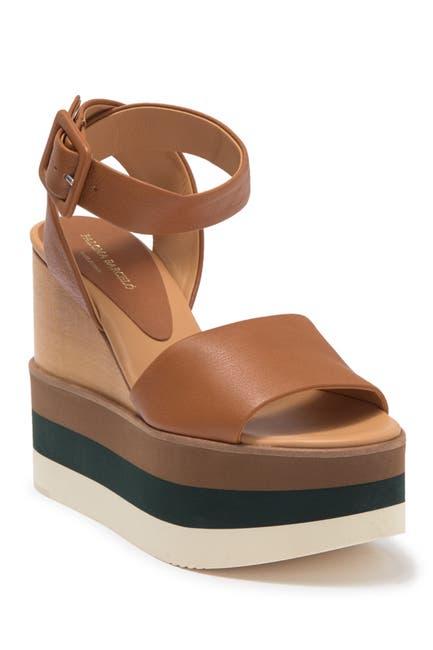 Image of Paloma Barcelo Demi Leather Wedge Sandal