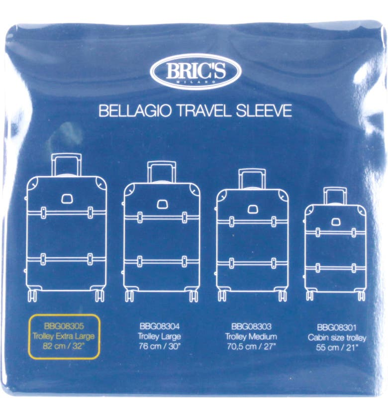 BRIC'S Transparent Custom Cover for 32-Inch Bellagio Spinner Trunk, Main, color, CLEAR