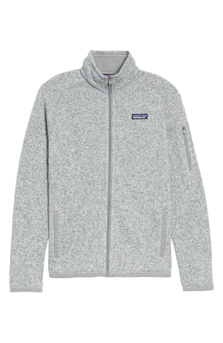 PATAGONIA Better Sweater Fleece Jacket, Main, color, BIRCH WHITE