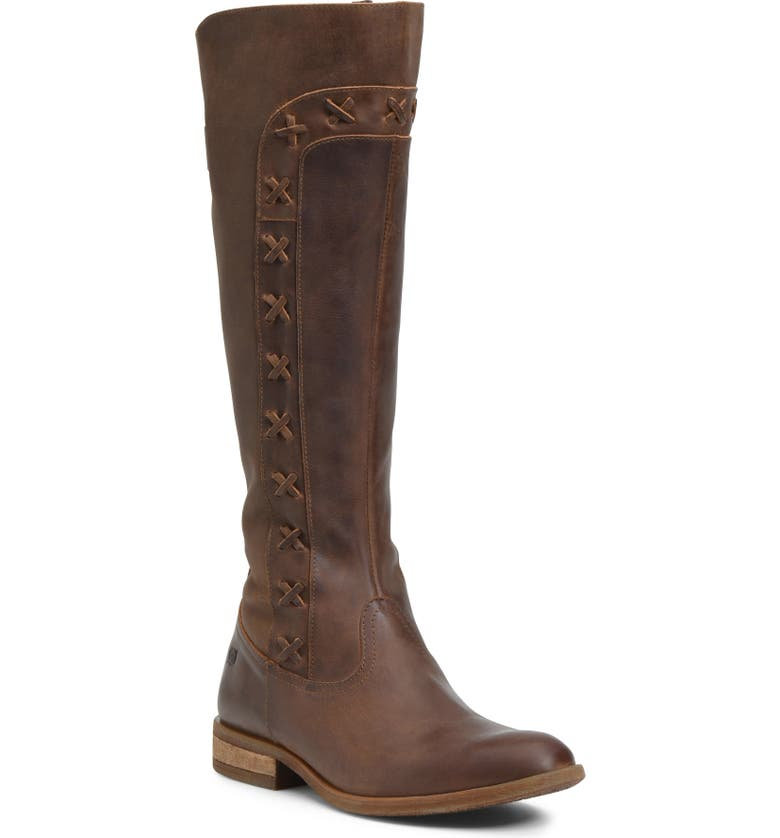 BØRN Albi Knee High Boot, Main, color, BROWN LEATHER