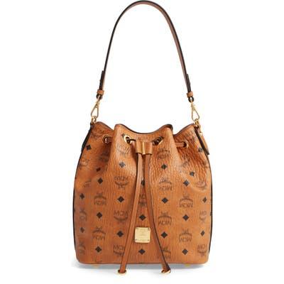 Mcm Essential Visetos Original Drawstring Bag - Brown