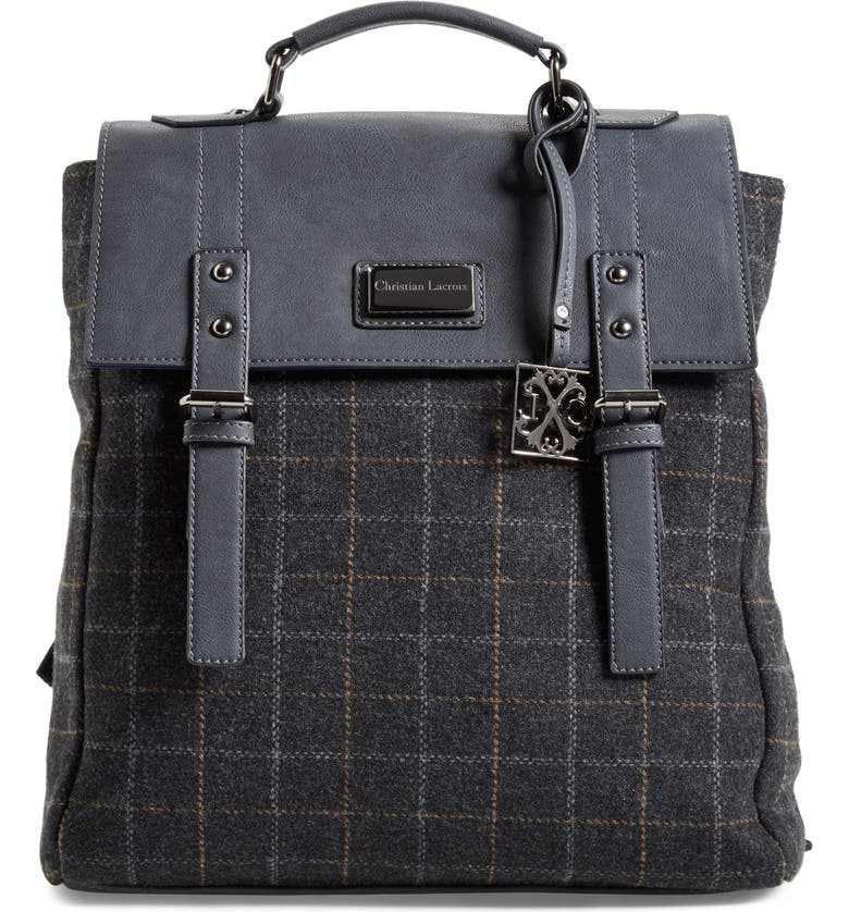 CXL BY CHRISTIAN LACROIX 'Strasbourg' Plaid Backpack, Main, color, 020
