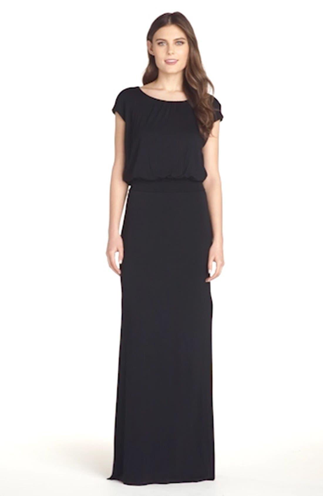 ,                             'Vienna' Blouson Maxi Dress,                             Alternate thumbnail 3, color,                             001