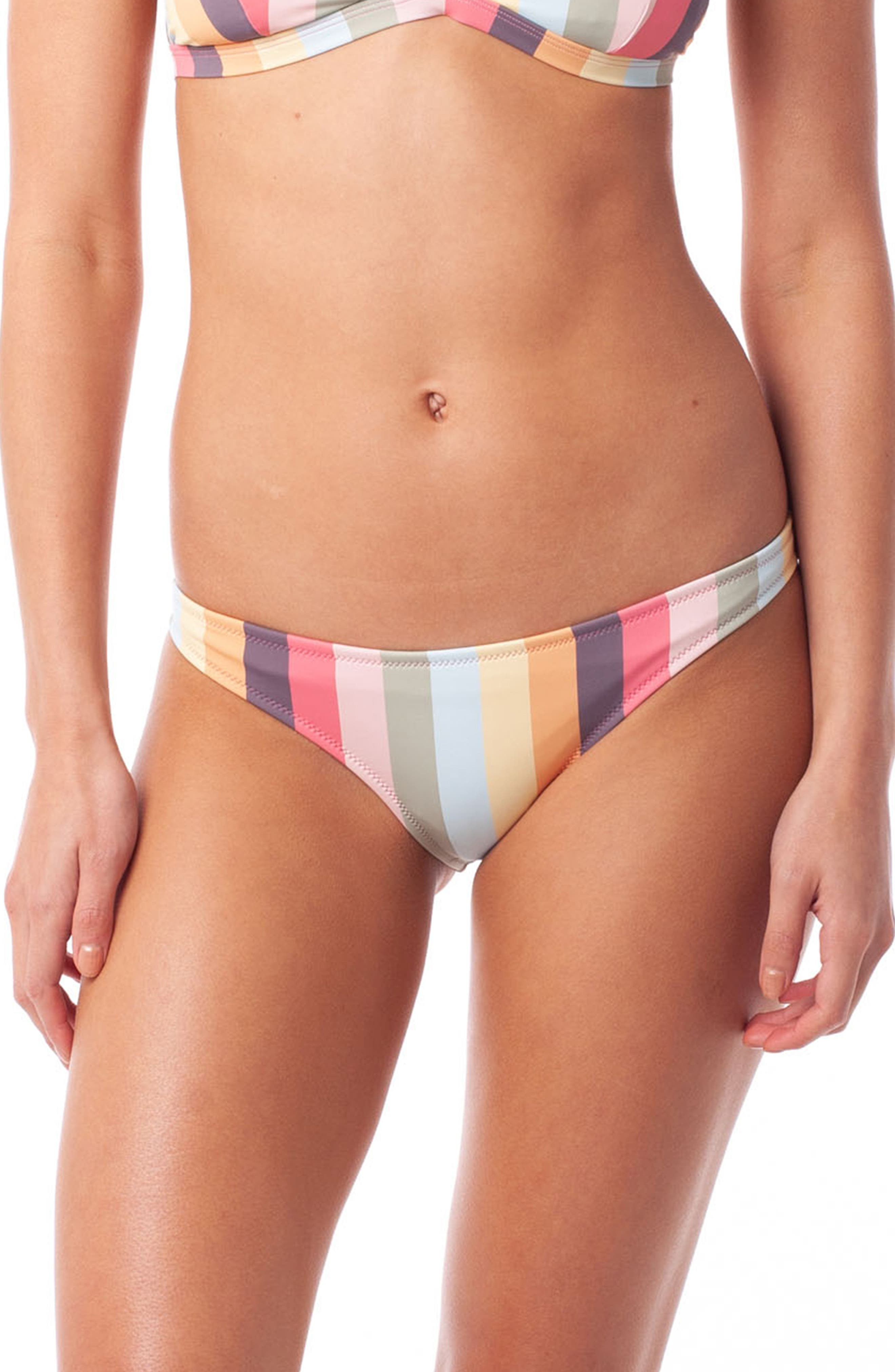 Rhythm Sahara Cheeky Bikini Bottoms, Red