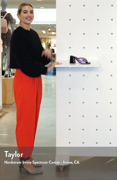 Melonger Block Heel Slide Sandal, sales video thumbnail