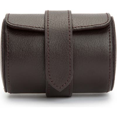 Wolf Blake Leather Watch Roll - Brown