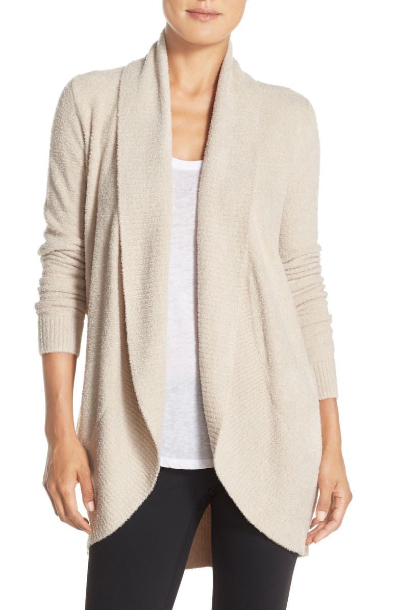 BAREFOOT DREAMS<SUP>®</SUP> CozyChic<sup>™</sup> Lite Circle Cardigan, Main, color, STONE