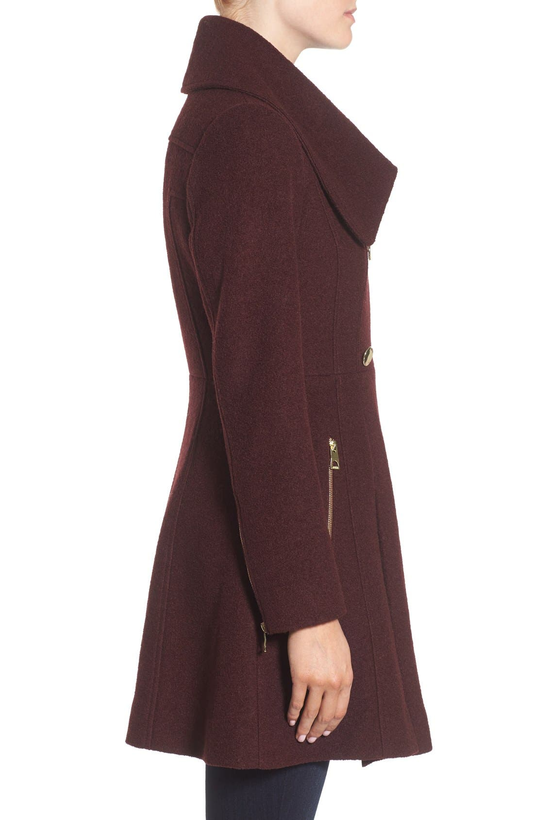 ,                             Envelope Collar Double Breasted Coat,                             Alternate thumbnail 19, color,                             605