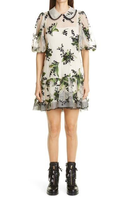 Red Valentino Dresses FLORAL EMBROIDERED TULLE DRESS