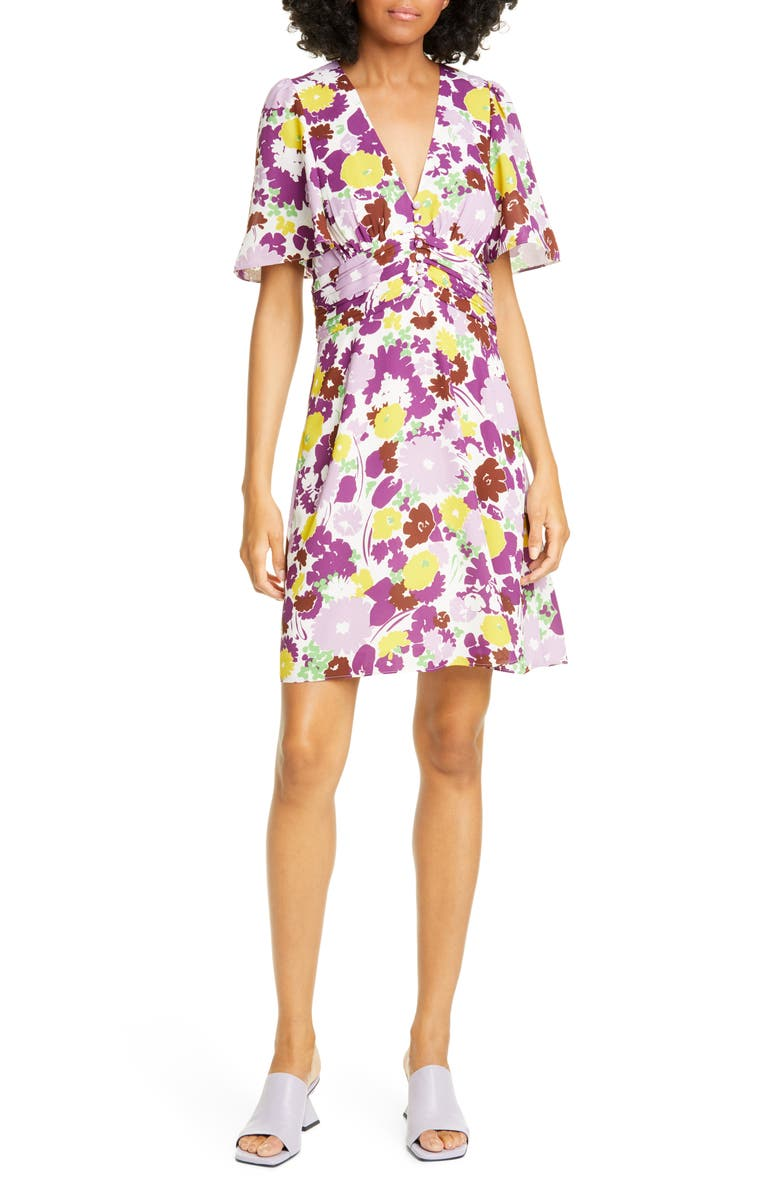 KATE SPADE NEW YORK swing flora dress, Main, color, DARK CREAM