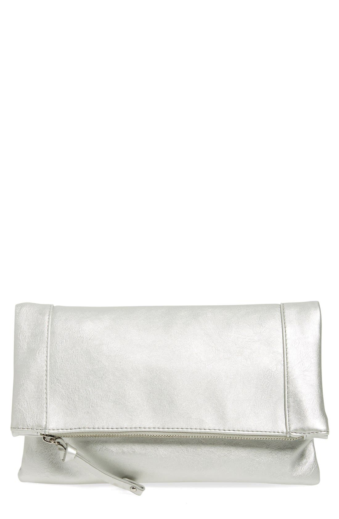 ,                             Marlena Faux Leather Foldover Clutch,                             Main thumbnail 27, color,                             041