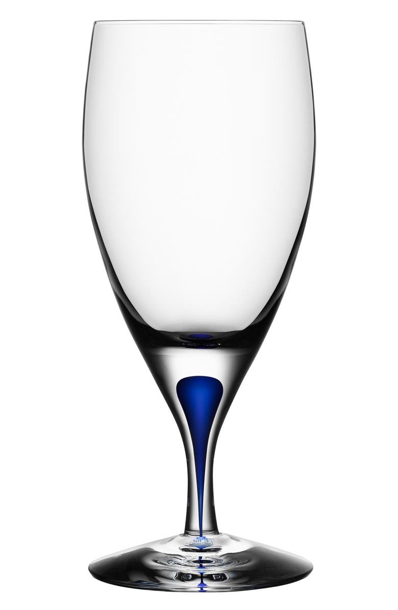 ORREFORS 'Intermezzo' Iced Beverage Glass, Main, color, CLEAR/ BLUE