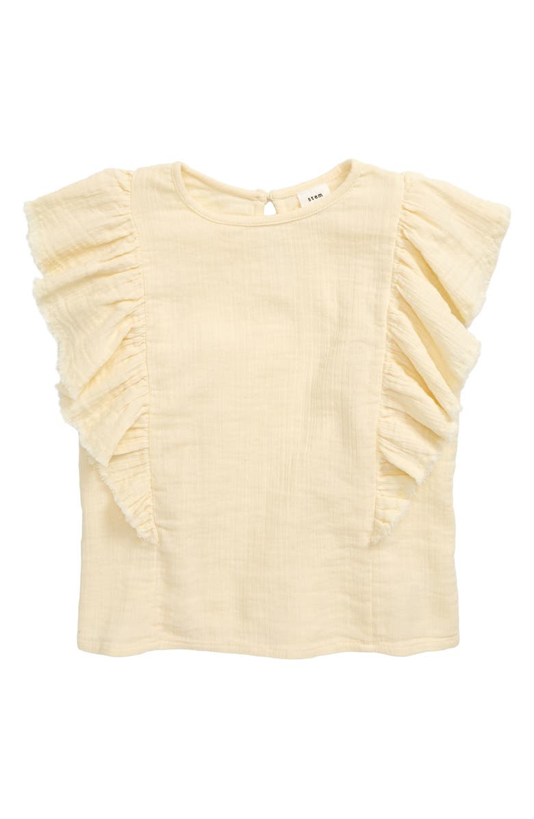 STEM Wave Ruffle Top, Main, color, YELLOW SOFT