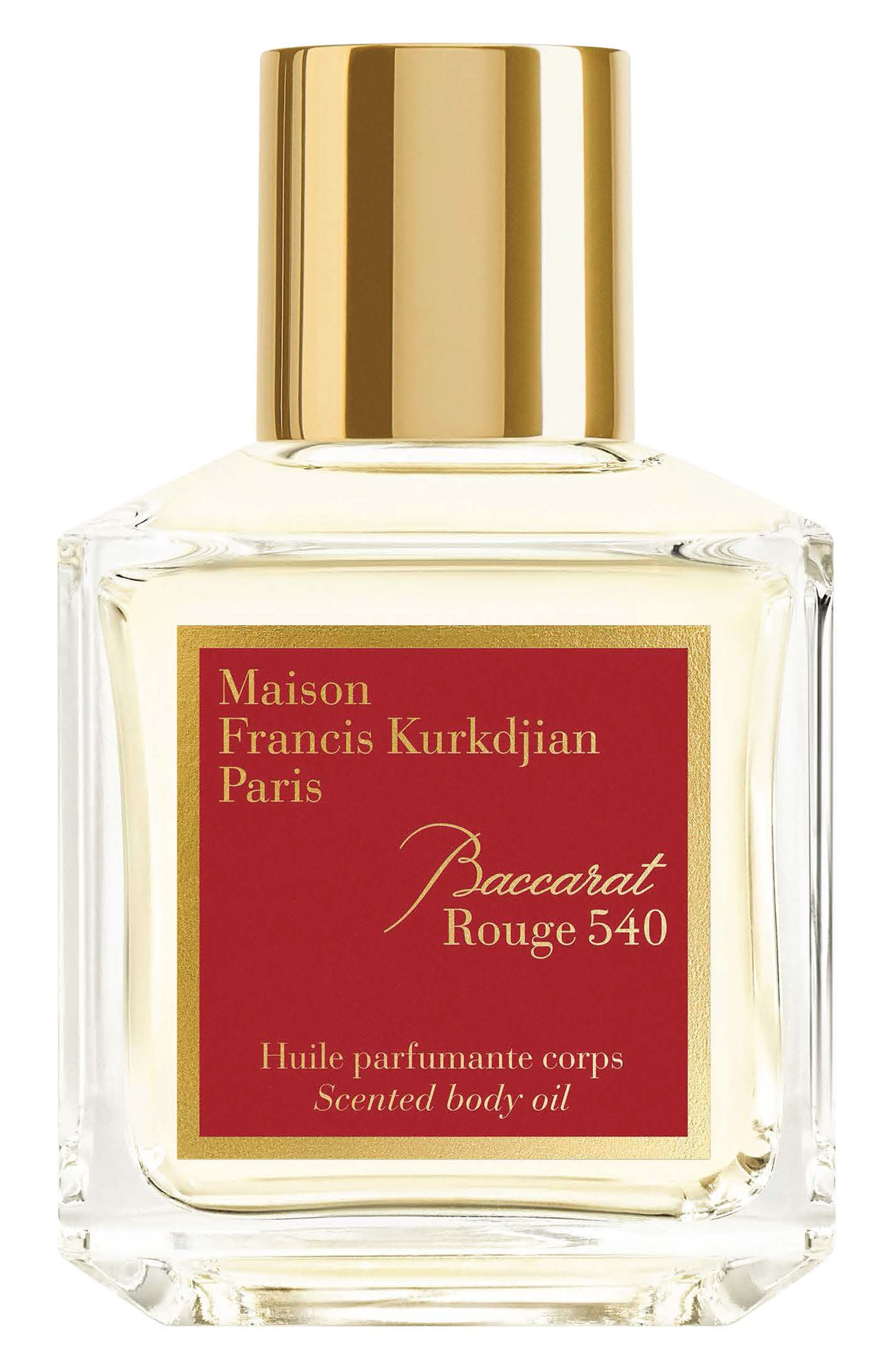 Paris Baccarat Rouge 540 Scented Body Oil