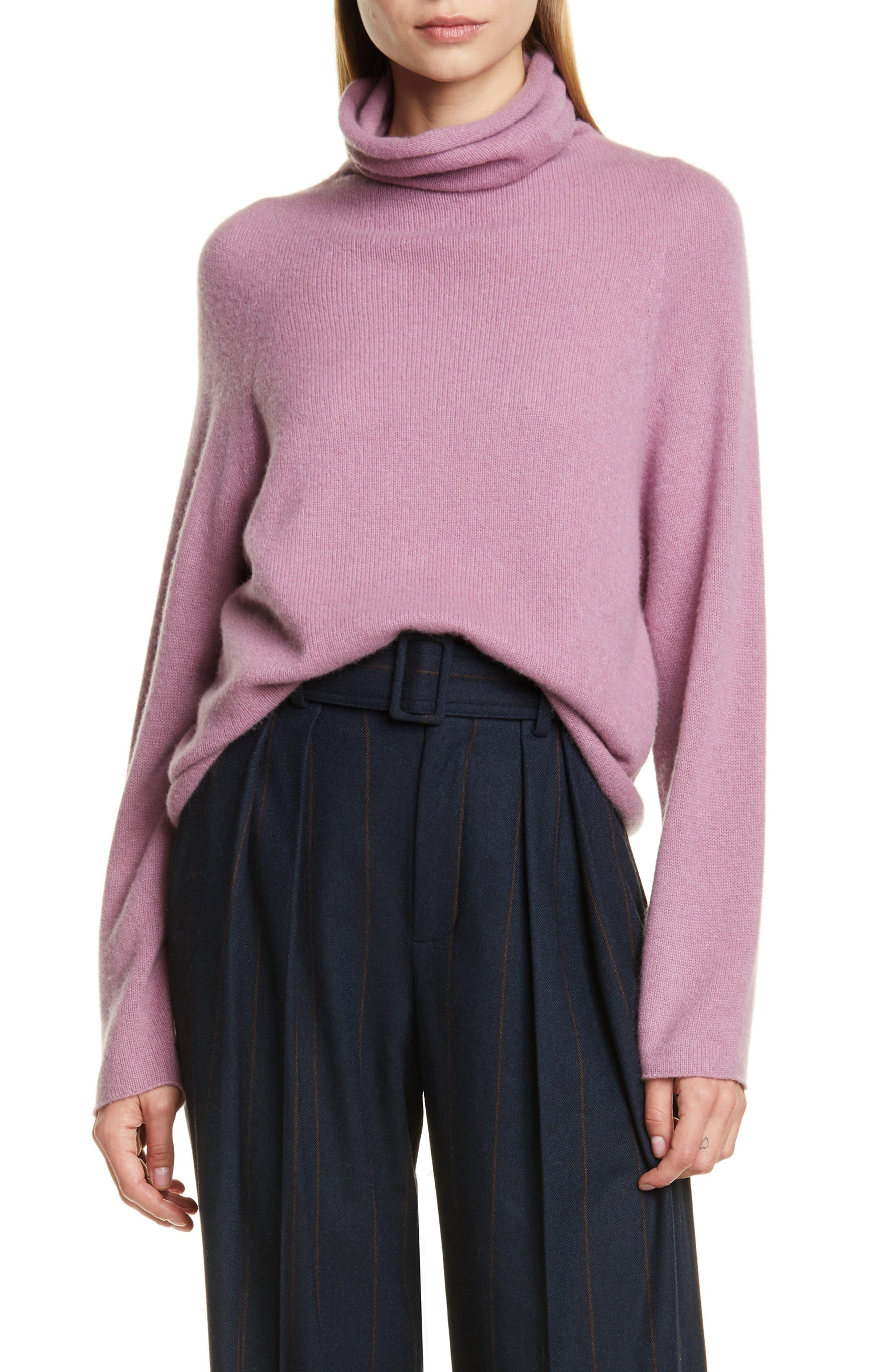 Vince Seamless Cashmere Turtleneck Sweater
