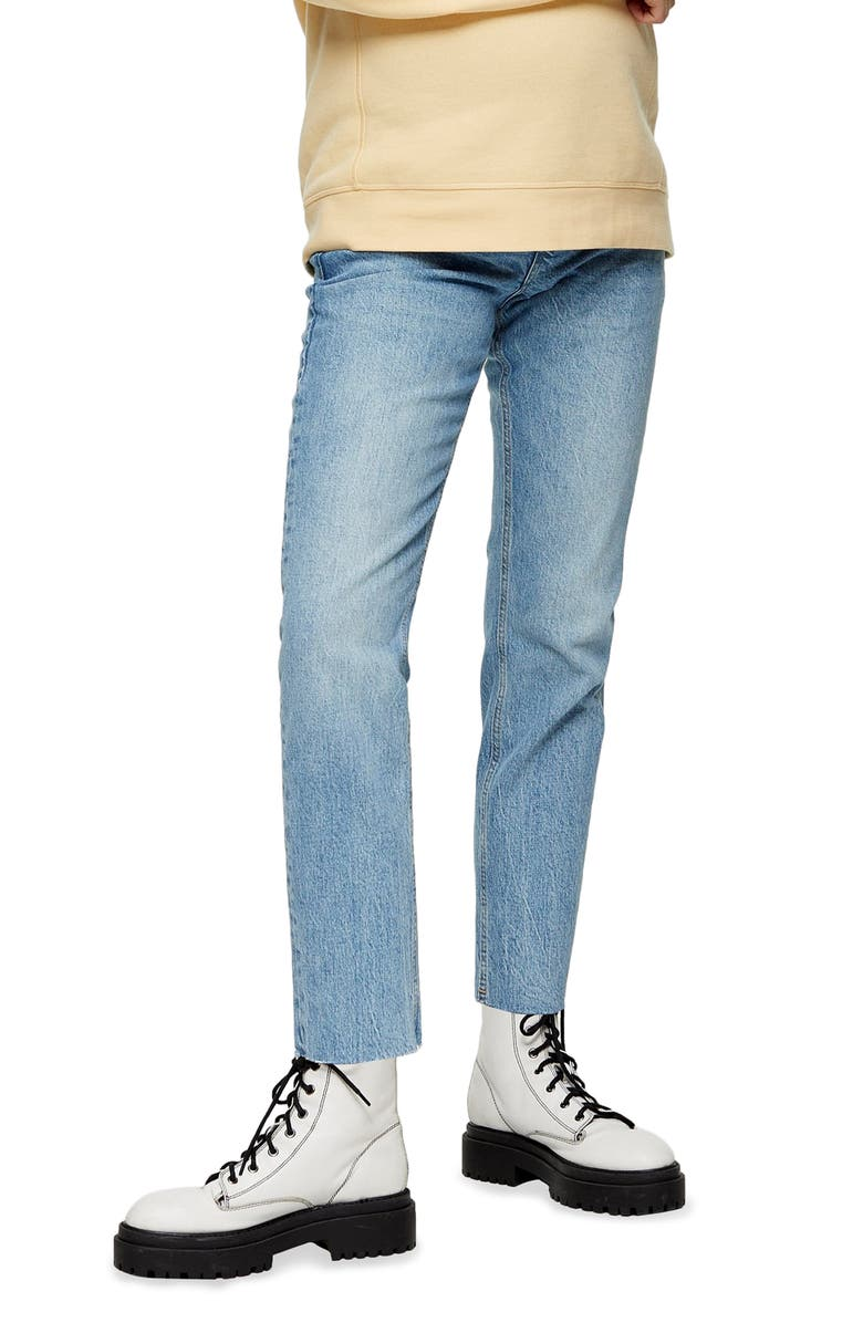 TOPSHOP Over the Bump Straight Leg Maternity Jeans, Main, color, 400