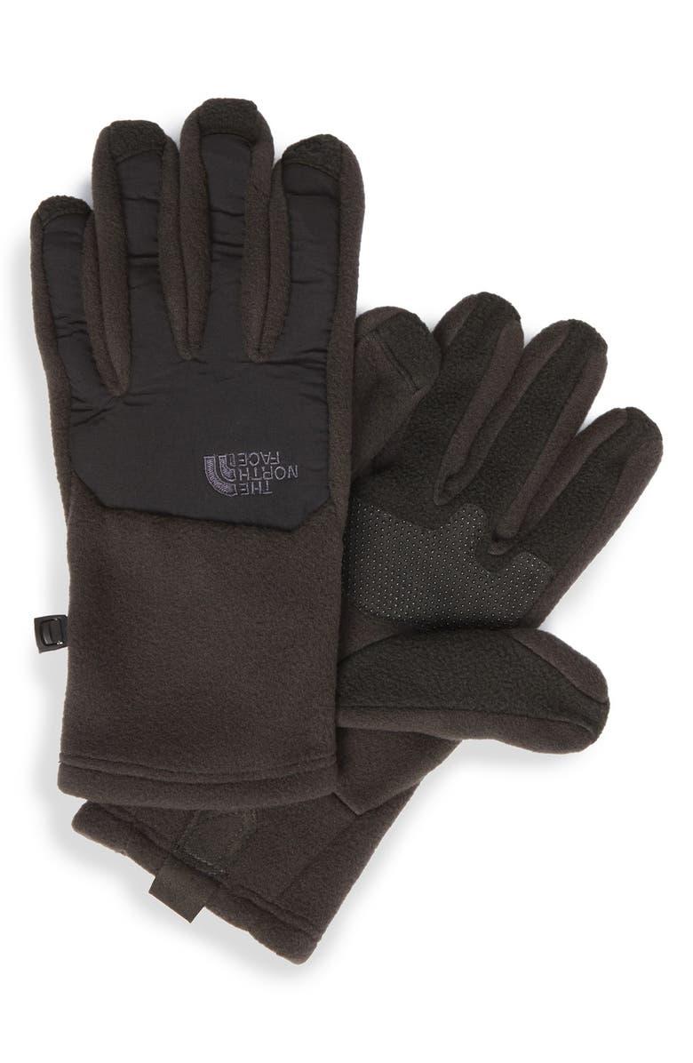 THE NORTH FACE 'Denali' E-Tip Gloves, Main, color, 001