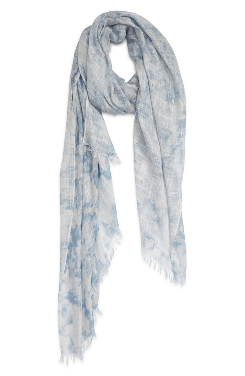 TREASURE & BOND Relaxed Scarf, Main, color, BLUE SUNWASH PRINT