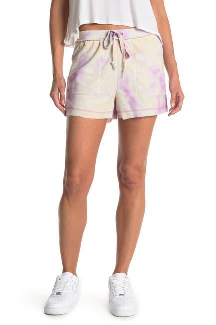 Image of Kirious Tie Front Pocket Tie Dye Shorts