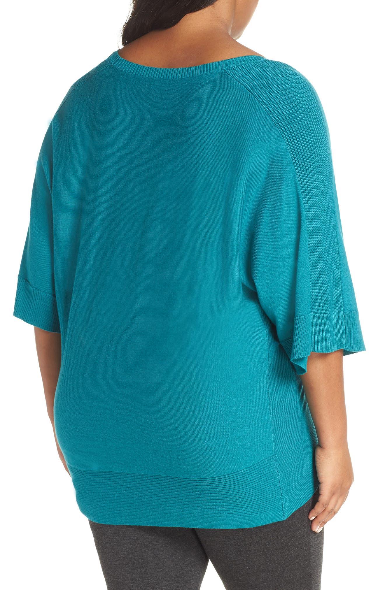 ,                             Cotton Blend Dolman Sleeve Sweater,                             Alternate thumbnail 8, color,                             440