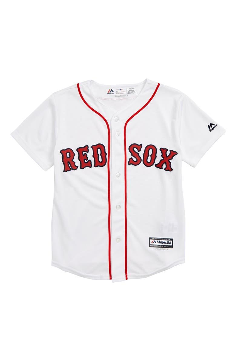 MAJESTIC MLB Boston Red Sox Replica Baseball Jersey, Main, color, 100