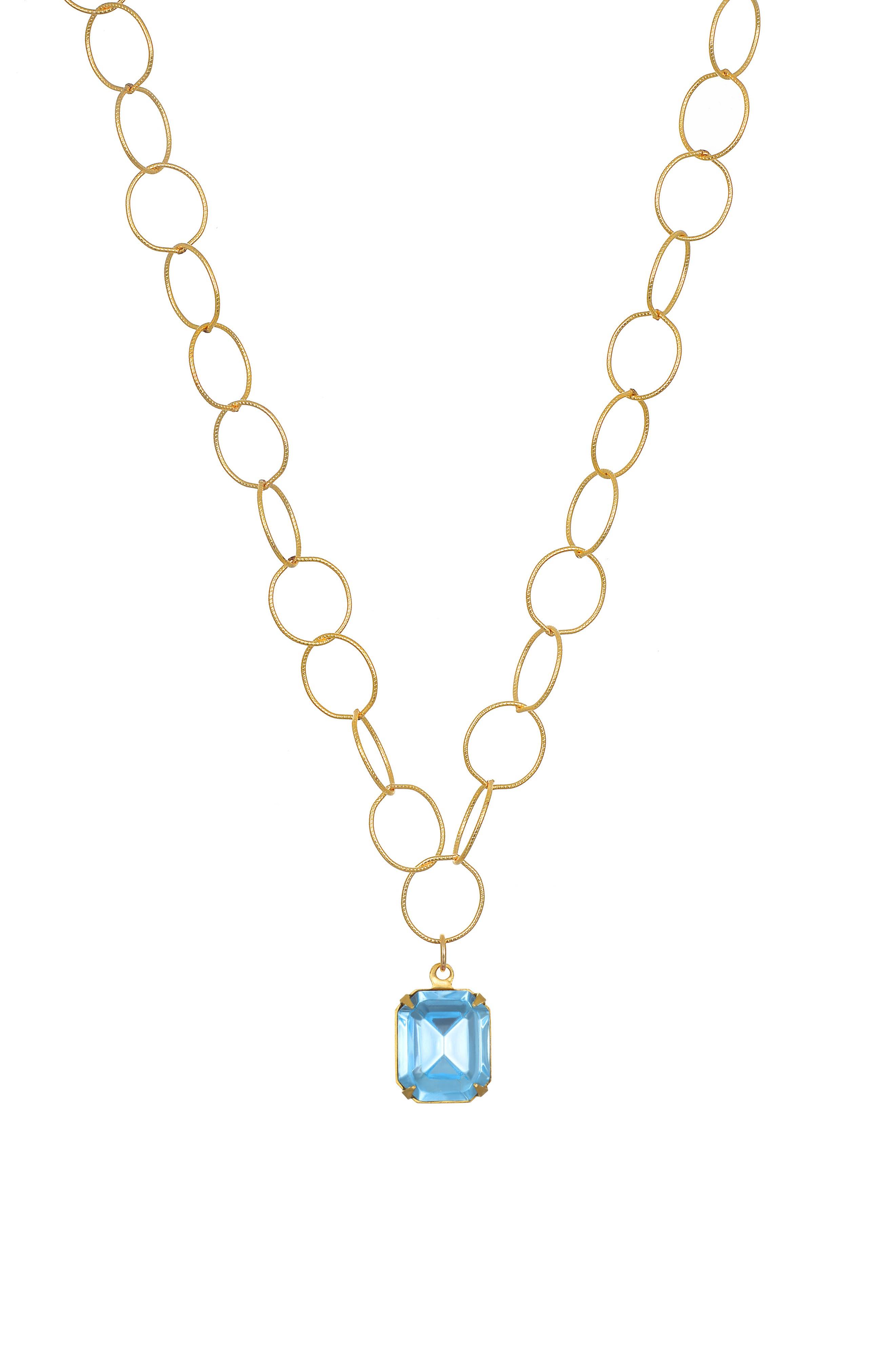 Charleston Solitaire Pendant Necklace