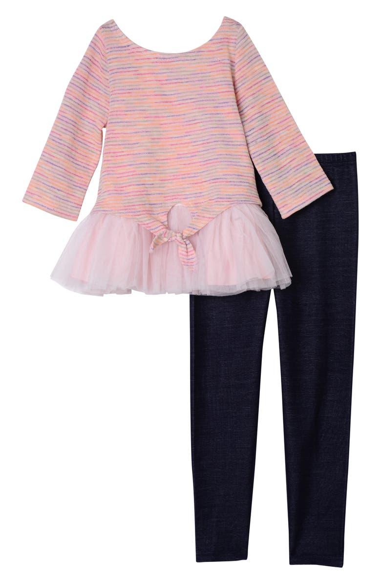 PIPPA & JULIE Sweater, Tank & Leggings Set, Main, color, PINK 6