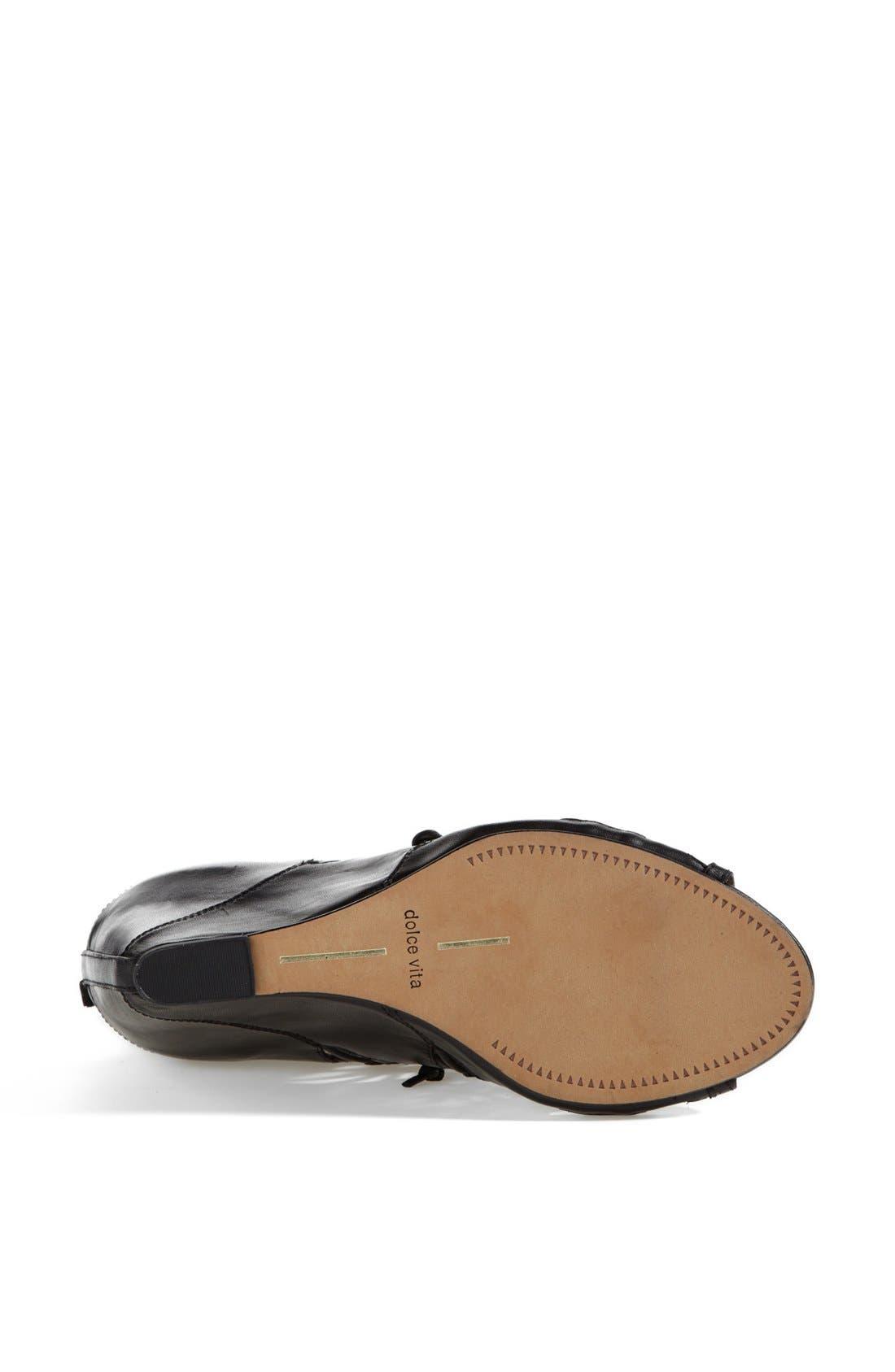 ,                             'Shandy' Cutout Sandal,                             Alternate thumbnail 3, color,                             001