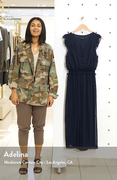 Clara Ruffle Sleeve Chiffon Jumpsuit, sales video thumbnail