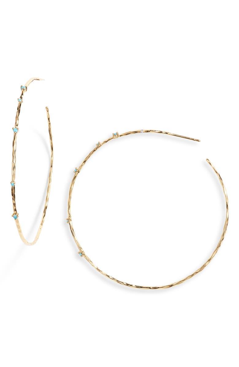 Large Cleo Stone Hoop Earrings by Gorjana