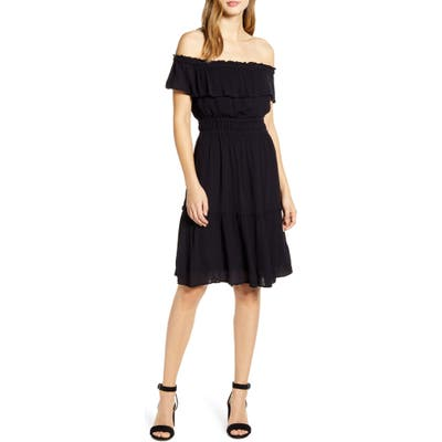 Tommy Bahama Caicos Off The Shoulder Dress, Black