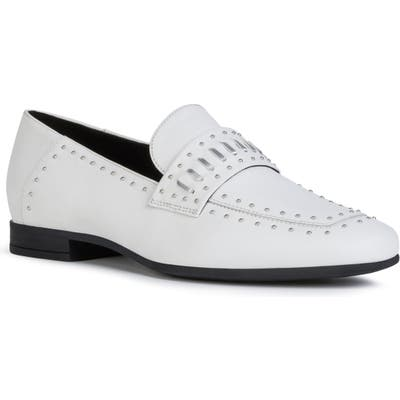 Geox Marlyna Studded Loafer, White