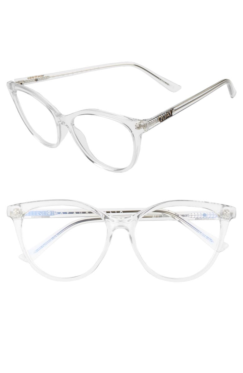 QUAY AUSTRALIA All Nighter 50mm Blue Light Blocking Optical Glasses, Main, color, 105