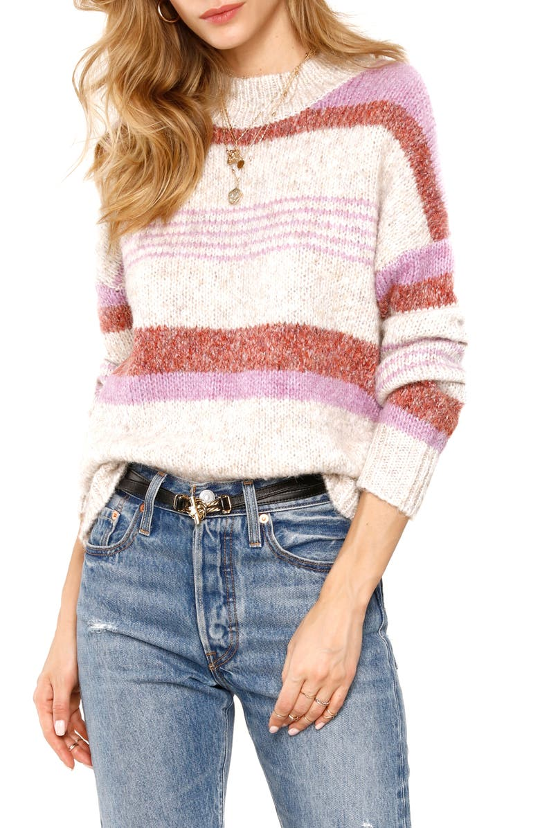 HEARTLOOM Cecily Sweater, Main, color, FEATHER