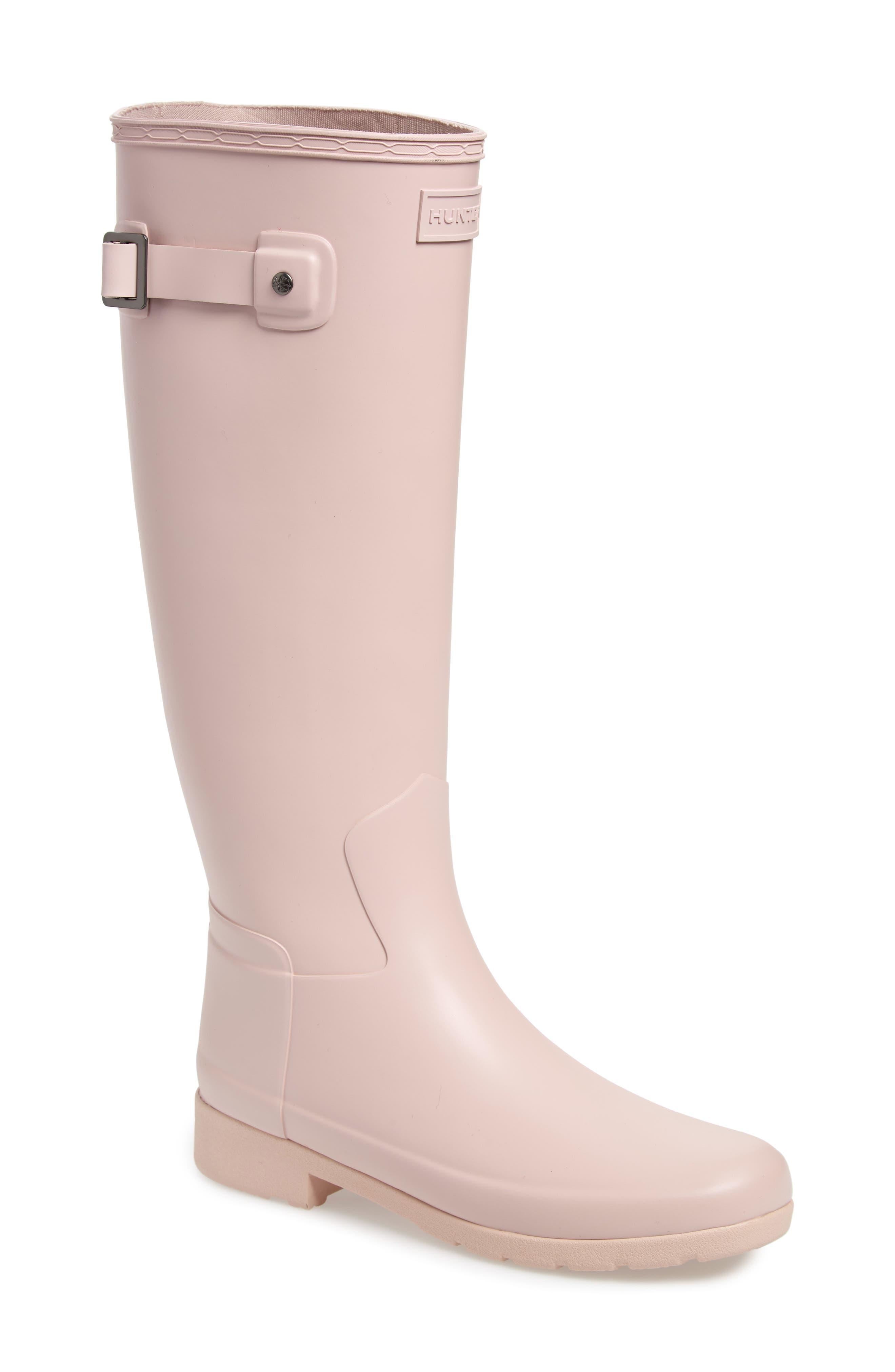 Hunter Original Refined Waterproof Rain Boot, Pink