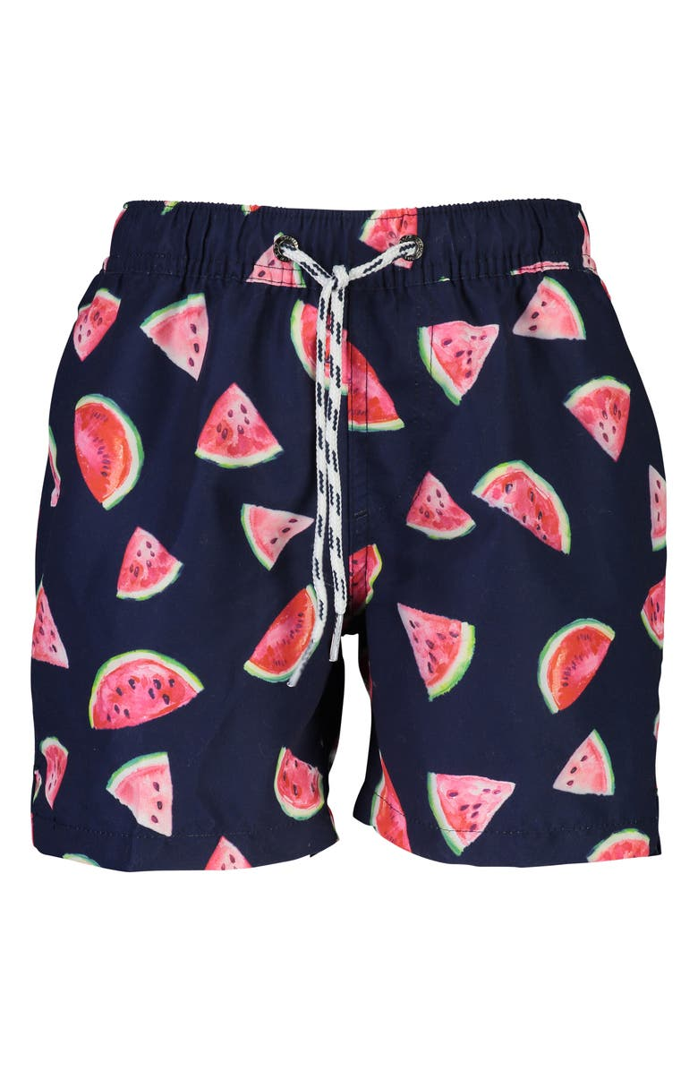 SNAPPER ROCK Slice of Life Volley Swim Trunks, Main, color, NAVY/ BERRY