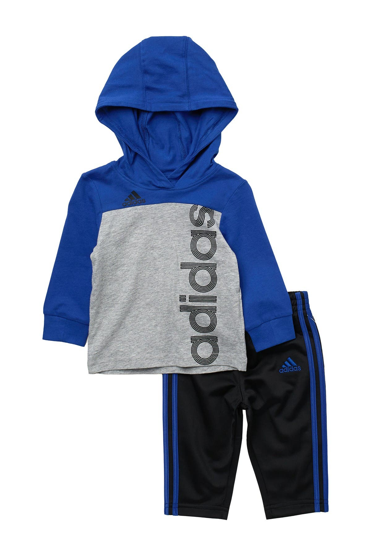 Image of adidas Colorblock Hooded Top & Pants Set