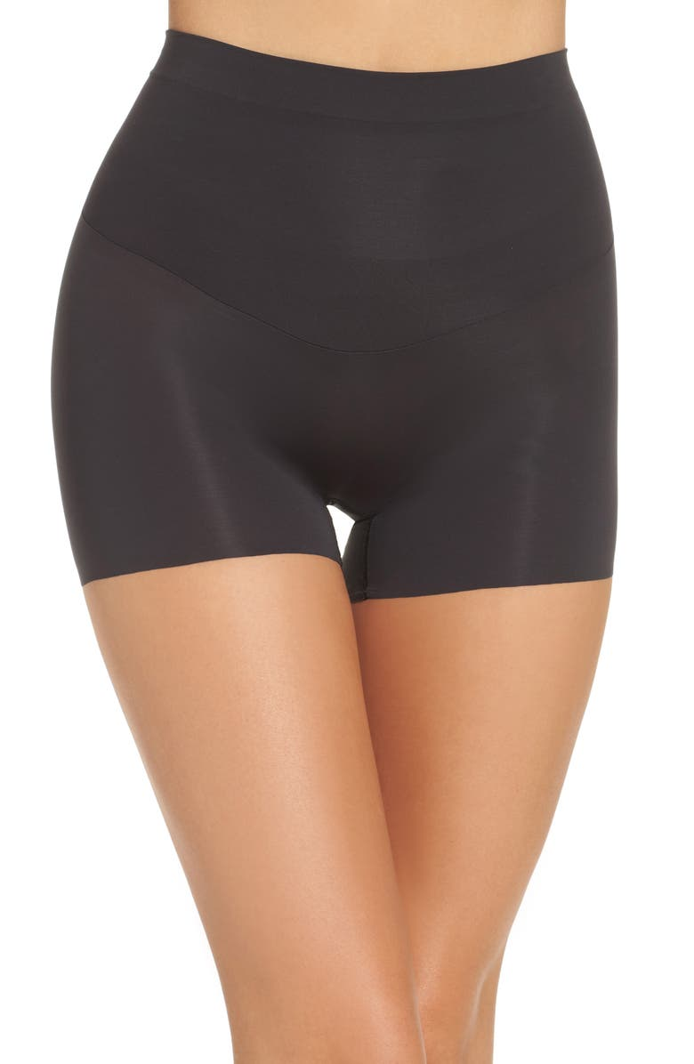 SPANX<SUP>®</SUP> Shape My Day Girl Shorts, Main, color, BLACK
