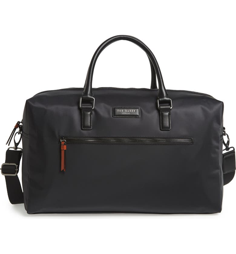 TED BAKER LONDON Nylon Duffle Bag, Main, color, 001