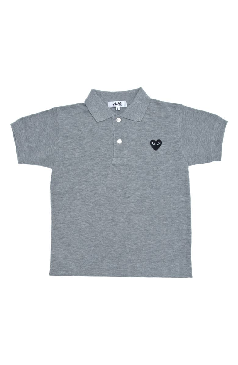COMME DES GARÇONS PLAY Polo Shirt, Main, color, GREY