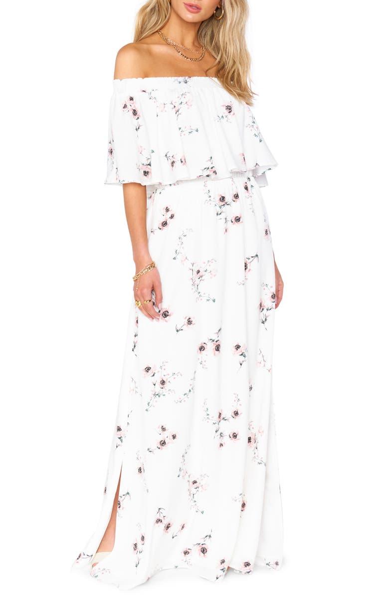 SHOW ME YOUR MUMU Hacienda Convertible Gown, Main, color, 100