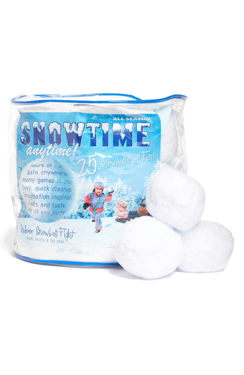 PLAY VISIONS TOYS 25-Pack Snowtime Indoor Snowballs, Main, color, 100