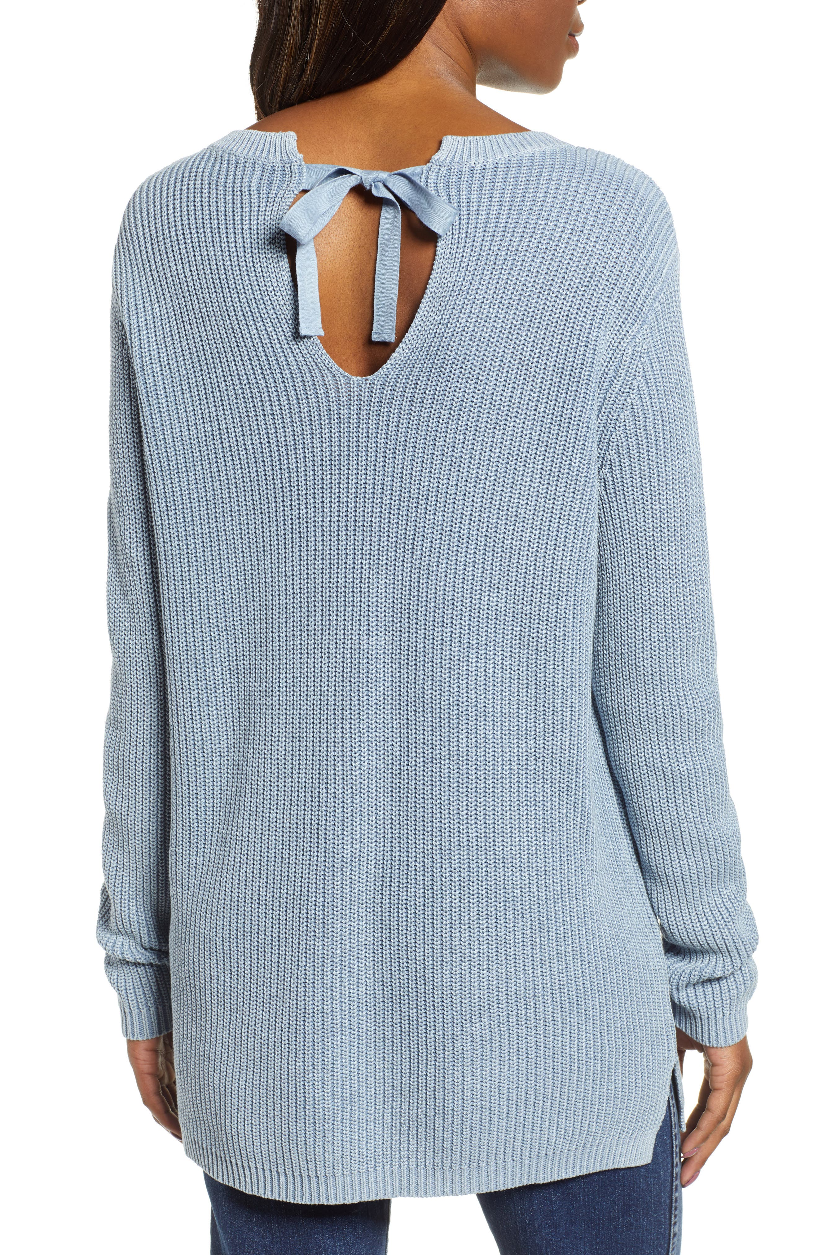,                             Tie Back Tunic Sweater,                             Alternate thumbnail 20, color,                             450
