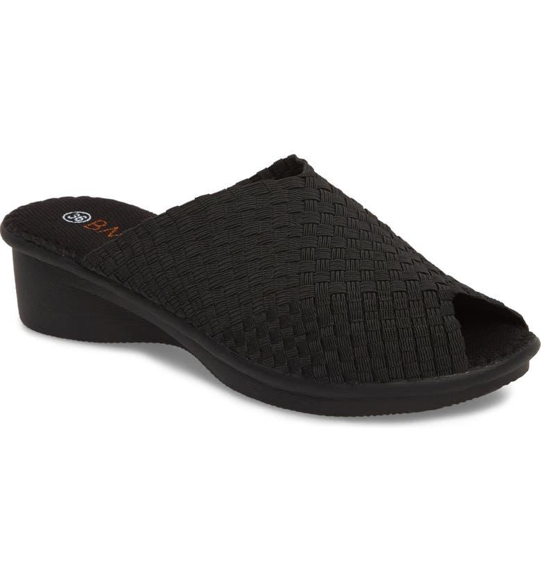 BERNIE MEV. Cyrene Wedge Sandal, Main, color, BLACK FABRIC