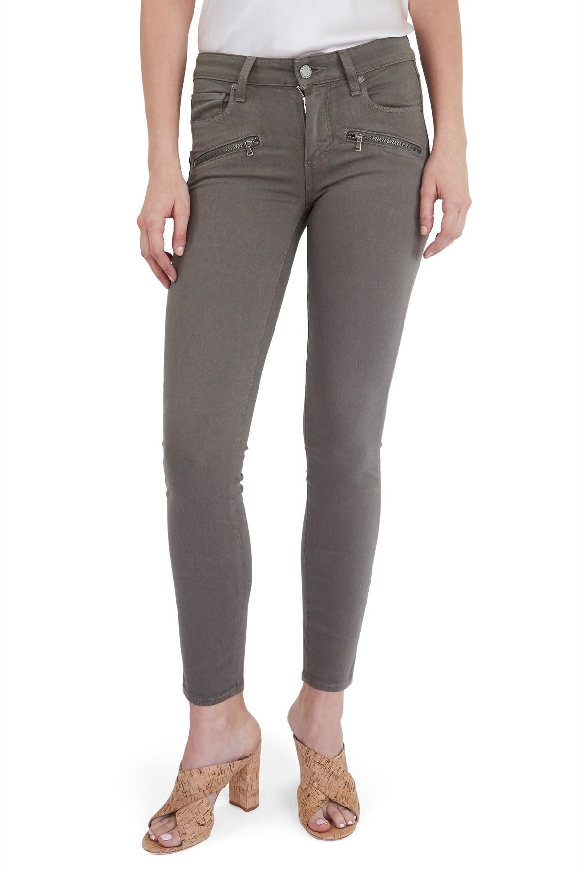Image of PAIGE Indio Zip Ankle Skinny Jeans